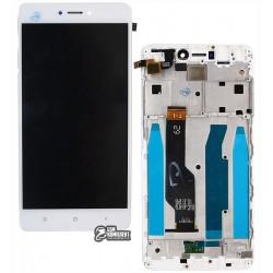 Дисплей для Xiaomi Redmi Note 4X, белый, с рамкой