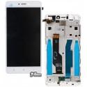 Дисплей Xiaomi Redmi Note 4X, белый, с тачскрином, с рамкой, Original PRC, Snapdragon, BV055FHM-N00-1909_R1.0