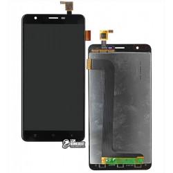 Дисплей для Oukitel U15 Pro, черный, с сенсорным экраном (дисплейный модуль)