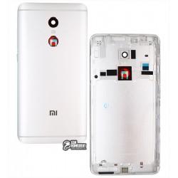 Задняя крышка батареи для Xiaomi Redmi Note 4, серебристая, original (PRC), MediaTek