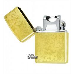 """Зажигалка USB с узором """"золотые листья"""", электроимпульсная"""