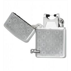 """Зажигалка USB с узором """"матрица"""", серебро, электроимпульсная"""