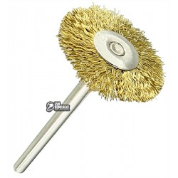 Щетка для гравера, диск d=22мм, хвостовик 3.2мм, латунь