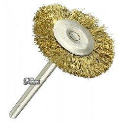 Щетка для гравера, диск d=25мм, хвостовик 3.2мм, латунь