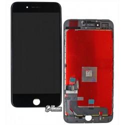 Дисплей iPhone 7 Plus, черный, с сенсорным экраном (дисплейный модуль), original (PRC)