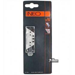 Лезвия трапециевидные сменные NEO толщиной 0.65 мм, 5шт