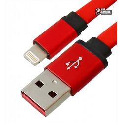 Кабель Lightning - USB, плоский, короткий, 23 см