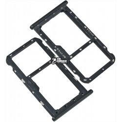 Держатель SIM-карты для Huawei Mate 10 Lite, черный, c держателем MMC, RNE-L01 singel SIM