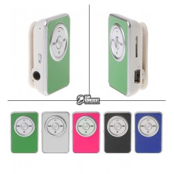 MP3-плеер с поддержкой карт памяти microSD на клипсе, с наушниками