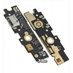 Шлейф для Meizu M1 Metal, коннектора зарядки, с компонентами, плата зарядки