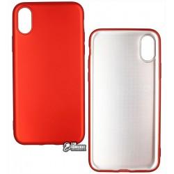 Чехол защитный T-Phox для iPhone X, силиконовый, матовый