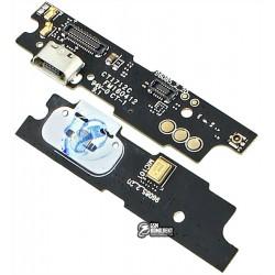 Шлейф для Meizu M3 Note, коннектора зарядки, с компонентами, плата зарядки