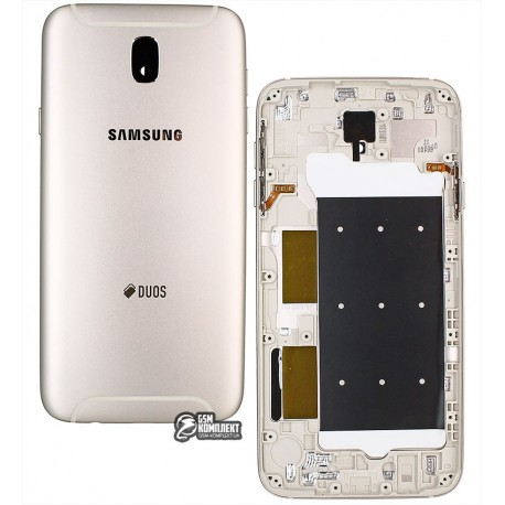 Задняя крышка батареи для Samsung J730F Galaxy J7 (2017), золотистая