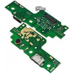 Шлейф для Huawei Y6 II, коннектора зарядки, микрофона, плата зарядки