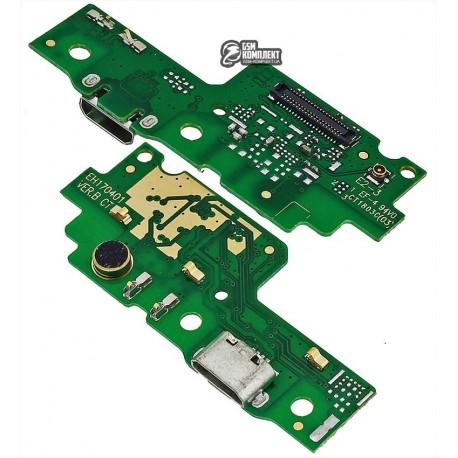 Шлейф для Huawei Y6 II, микрофона, коннектора зарядки, плата зарядки