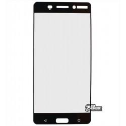 Закаленное защитное стекло для Nokia 6 Dual Sim, 0,33 мм, 2.5D, 9H, черное