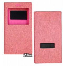 Чехол-книжка универсальная S-Book 5.3'-5.5' розовая, с подставкой