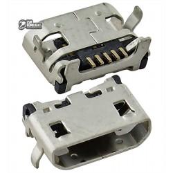 Коннектор зарядки для Sony E2104 Xperia E4, E2105 Xperia E4, E2115 Xperia E4, E2124 Xperia E4, 5 pin, тип 5, micro-USB тип-B