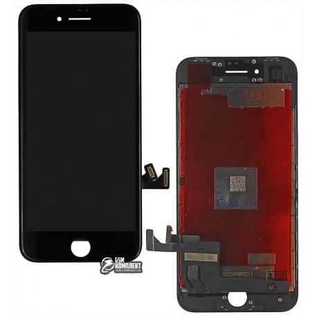 Дисплей iPhone 8, черный, с сенсорным экраном (дисплейный модуль), original (PRC)