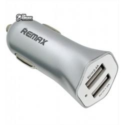 Автомобильное зарядное устройство REMAX RCC204, (2 USB выхода 5V 2.4A), 12 В, универсальное