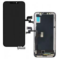 Дисплей iPhone X, черный, с сенсорным экраном (дисплейный модуль), original (PRC)