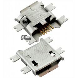 Коннектор зарядки для планшетов; мобильных телефонов, 5 pin, micro-USB тип-B, тип 3