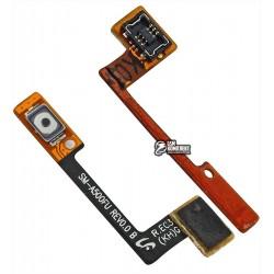 Шлейф для Samsung A500F Galaxy A5, A500FU Galaxy A5, A500H Galaxy A5, A500M Galaxy A5, кнопки включения, с компонентами