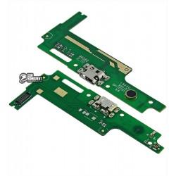 Шлейф для Huawei Y3 II, коннектора зарядки, микрофона, (3G версия), плата зарядки
