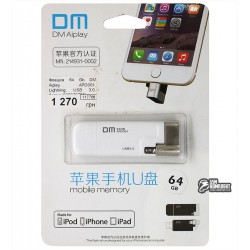 Флешка 64 Gb DM Aiplay APD001, Lightning, USB 3.0