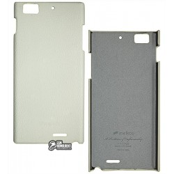 Чехол защитный для Lenovo K900, кожзам, белый