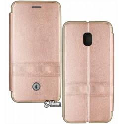 Чехол-книжка iMax для Samsung J330 Galaxy J3 (2017), с кард-холдером, кожзам, розовая