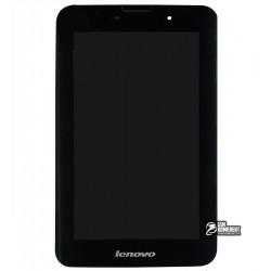Дисплей для планшета Lenovo IdeaTab A3000, черный, с рамкой, с сенсорным экраном (дисплейный модуль), original