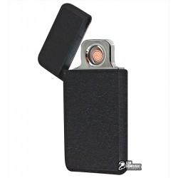 Зажигалка USB XT-4952 ultrraslim, электрическая, со спиралью, черная
