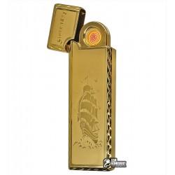 Зажигалка USB XT-4793, электрическая, со спиралью, золото
