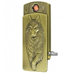 Зажигалка USB XT-4882, электрическая, со спиралью, волк