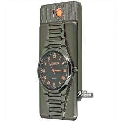 Зажигалка USB XT-4957 с часами, электрическая, со спиралью