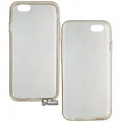 Чехол защитный для Apple iPhone 6 / iPhone 6s, Usams Case, силиконовый прозрачный в золотом бампере