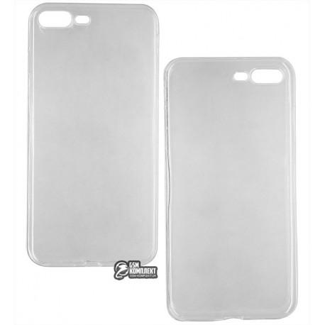 Чехол защитный для iPhone 7 Plus / iPhone 8 Plus, силиконовый, прозрачный