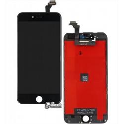 Дисплей iPhone 6 Plus, черный, с сенсорным экраном (дисплейный модуль), с рамкой, original (PRC)