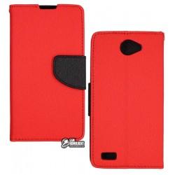 Чехол-книжка TOTO Mercury для LG Max X155 Red
