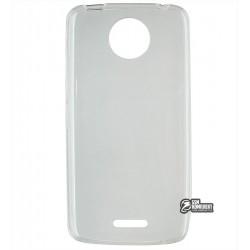 Чехол ультратонкий для Motorola Moto C Plus, силиконовый, прозрачный