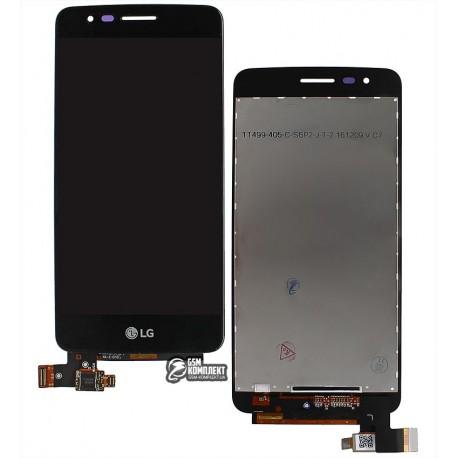Дисплей для LG K8 (2017) X240 Dual Sim, черный, с сенсорным экраном, original (PRC), 20 pin
