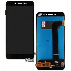 Дисплей для Prestigio MultiPhone 5530 Duo Grace Z5, черный, с сенсорным экраном (дисплейный модуль)