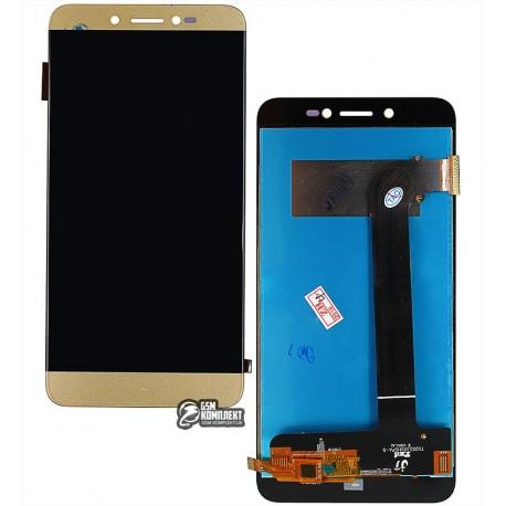 Дисплей для Prestigio MultiPhone 5530 Duo Grace Z5, золотистый, с сенсорным экраном (дисплейный модуль)