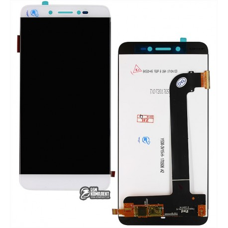 Дисплей для Prestigio MultiPhone 5530 Duo Grace Z5, білий, з сенсорним екраном
