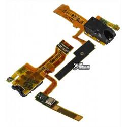 Шлейф для Sony C6502 L35h Xperia ZL, C6503 L35i Xperia ZL, C6506 Xperia ZL, коннектора наушников, с микрофоном