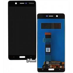 Дисплей для Nokia 5 Dual Sim, черный, с сенсорным экраном (дисплейный модуль)