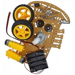 Автомобильное шасси 2WD с третьим пассивным колесом