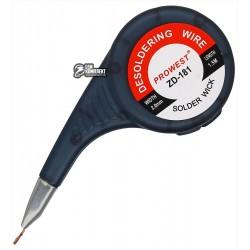 Лента-оплетка 2,0 mm косичка для демонтажа ZD-181 в корпусе, длина 1,5м