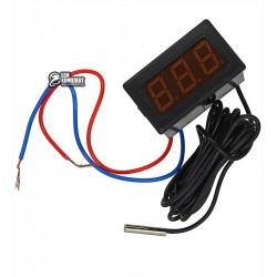 Термометр цифровой со светодиодной индикацией и выносным датчиком -50 ~ 110 С, 220В.